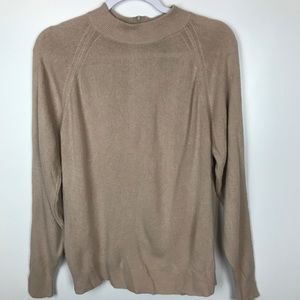 Designers Originals Sz XL 42 Luxelon Tan Sweater